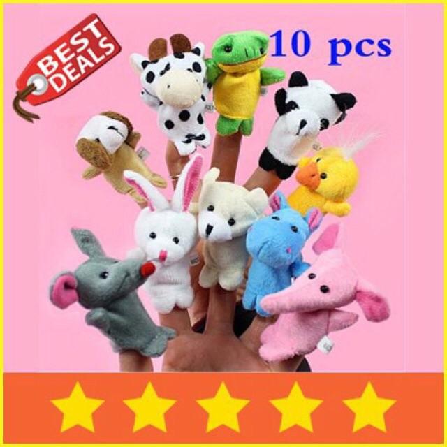 Boneka Jari Binatang   Hewan - Set isi 10 pcs - Animal Finger Puppets  84197d50bd