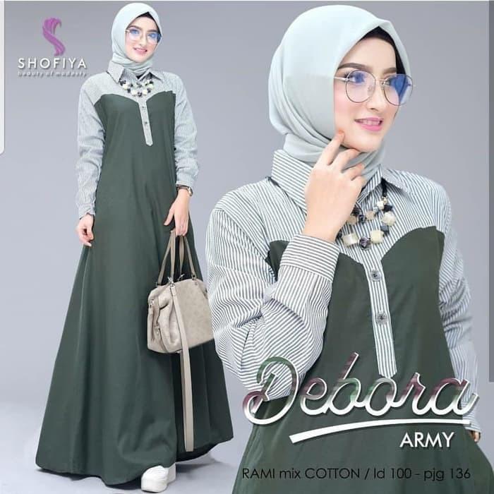 Baju Gamis Muslim Wanita Terbaru Debora Maxi Dress Termurah Shopee Indonesia