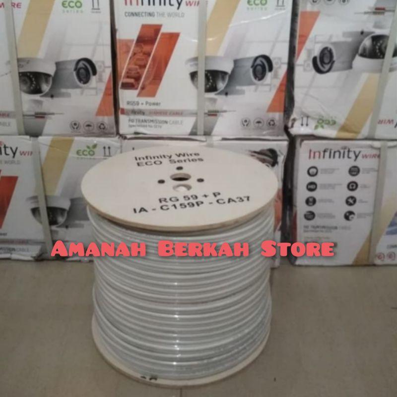 INFINITY Kabel CCTV RG59 + Power 1Roll