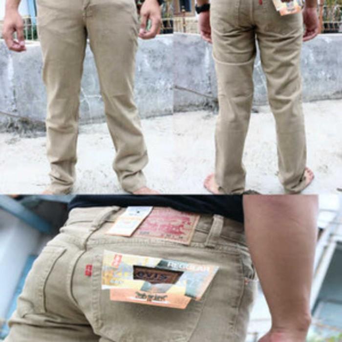 Celana Jeans Robek Lutut Pria Skinny Pensil Abu Gelap Denim Sobek Di Dengkul Warna Dark Grey