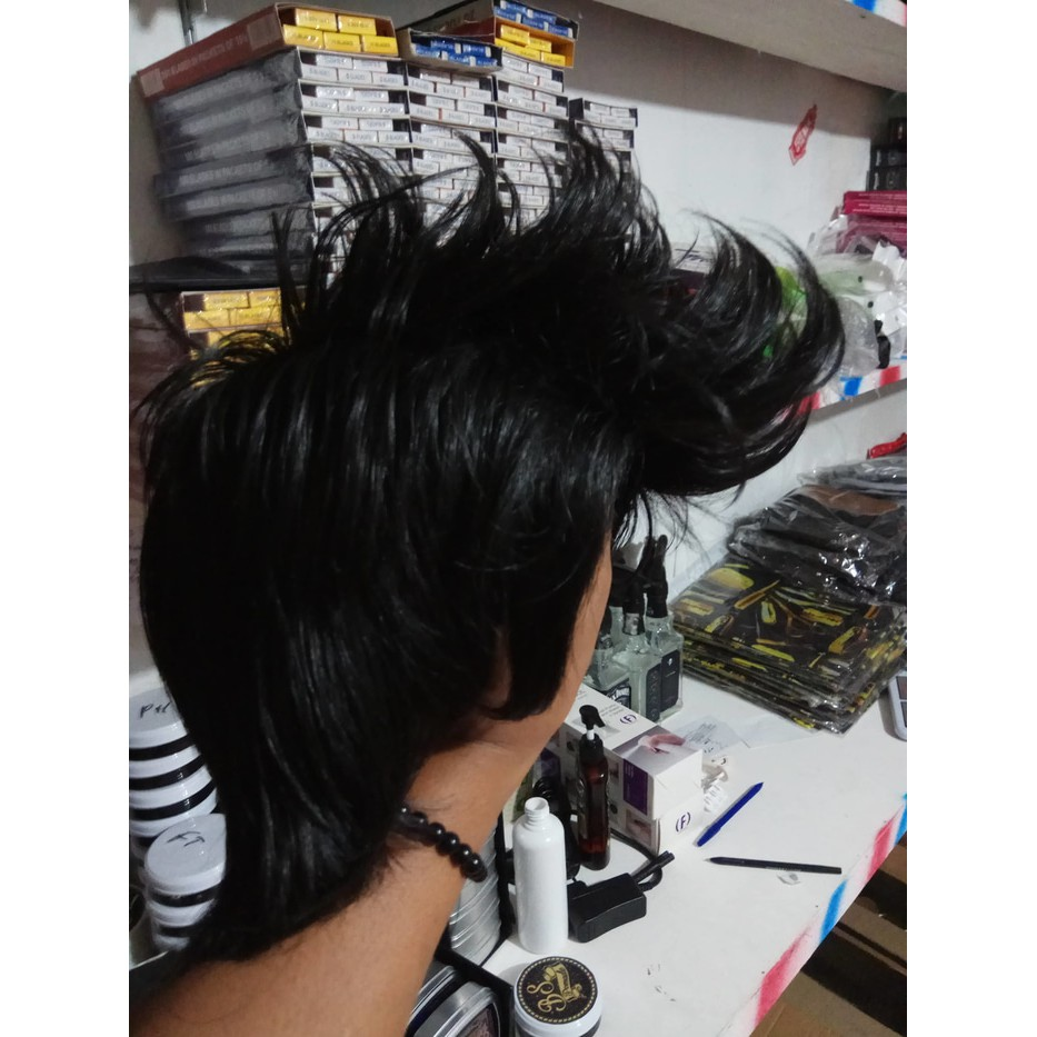 rambut palsu/wigg/wik model spike mohawk korea cowok pria