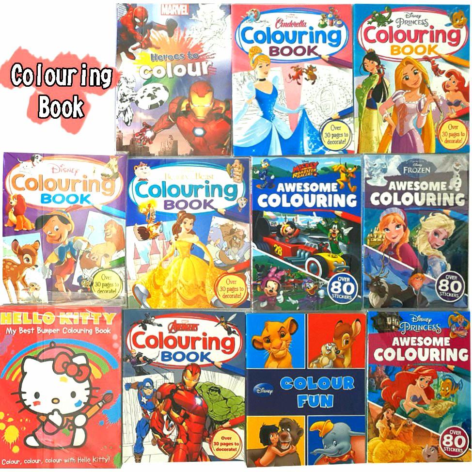 Colouring Book Buku Mewarnai Menggambar Disney Marvel Mickey By Autumn Publishing Bbw