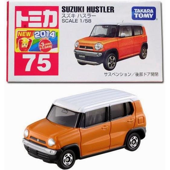 A TOMICA 75 SUZUKI HUSTLER 1//58 TOMY RED 2014 OCT NEW MODEL First edition