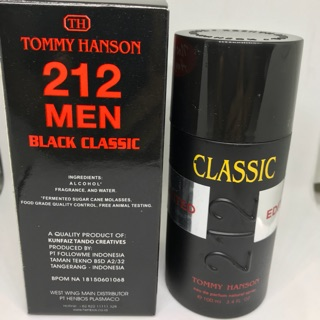 PARFUM PRIA 212 MEN TOMMY HANSON BPOM [ BLACK CLASSIC LIMITED EDITION ]