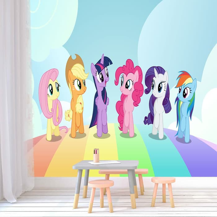 Wallpaper Dinding My Little Pony Custom Shopee Indonesia