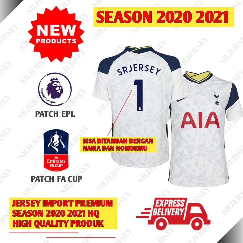 Jersey Baju Bola Tottenham Hotspurs Spurs Home 2020 2021 Import High Quality Grade Ori Official Slim Shopee Indonesia