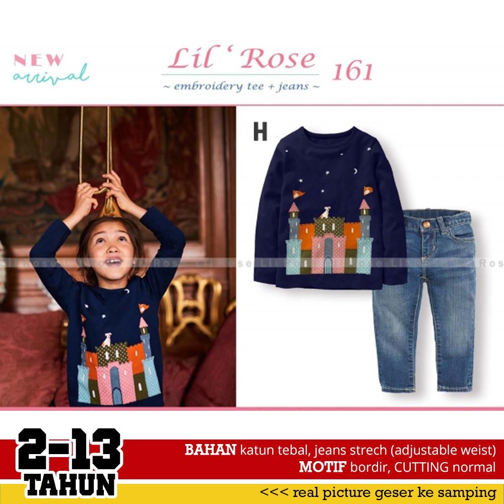 Baju Setelan Anak Perempuan Gw241 C Red Ridding Hood Kaos Bordir Lengan Panjang Lil Kids D Ampamp Celana Jeans Pendek Shopee Indonesia