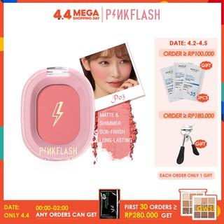 PINKFLASH Palet Blush On Powder Kosmetik Makeup Warna Pink thumbnail