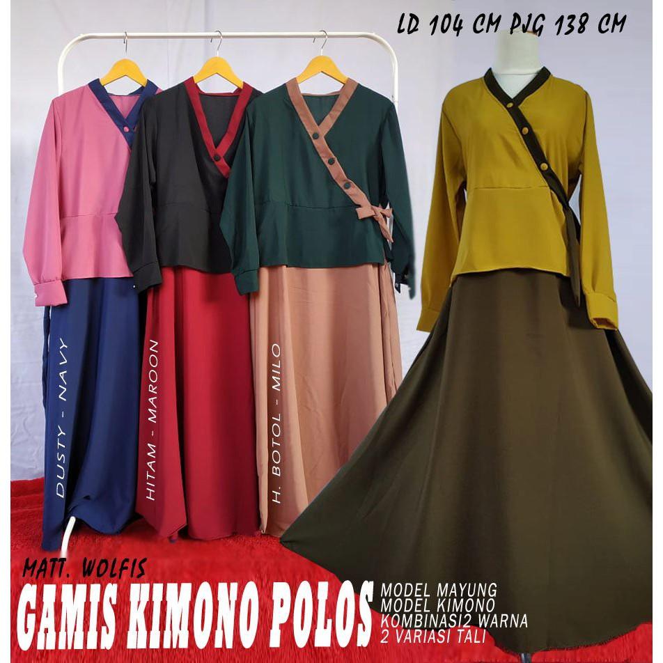 Gamis wolfis model kimono