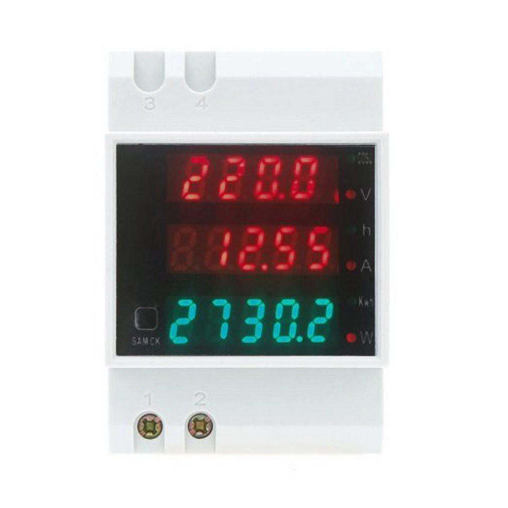 Ammeter Voltmeter Ammeter Dual LED Din Rail AC 80-300V   Shopee Indonesia