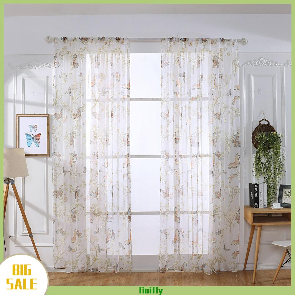 Blackout Curtains Butterfly Printed Window Curtain For Living Room Bedroom Windows Drapes Jacquard Shopee Indonesia