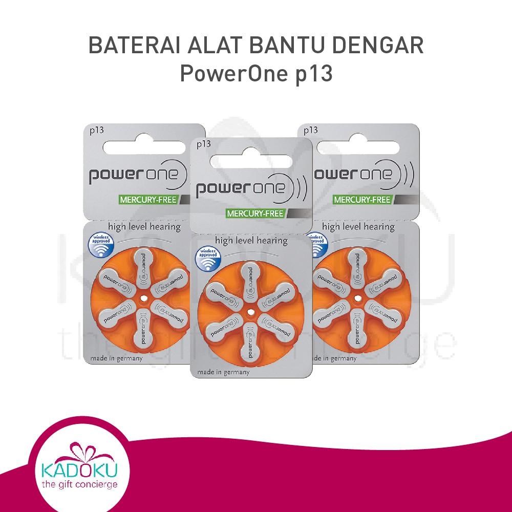 Baterai Alat Bantu Dengar Powerone 13 Hearing Aid Battery (Tipe Terbaru Mercury-Free) | Shopee Indonesia