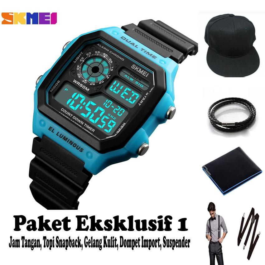 SKMEI Jam Tangan Olahraga Smartwatch Bluetooth - DG1226 BL - Black Silver | Shopee Indonesia