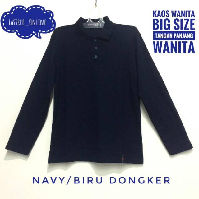 Dapatkan Harga kaos Polo Shirt Pakaian Wanita Atasan Big size Diskon ... bc5b03b79a