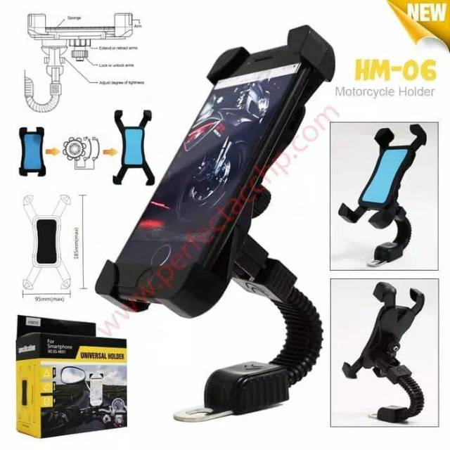 Universal Phone Holder Motor + Charger Untuk HP / GPS Model: Universal Carger 2A | Shopee Indonesia