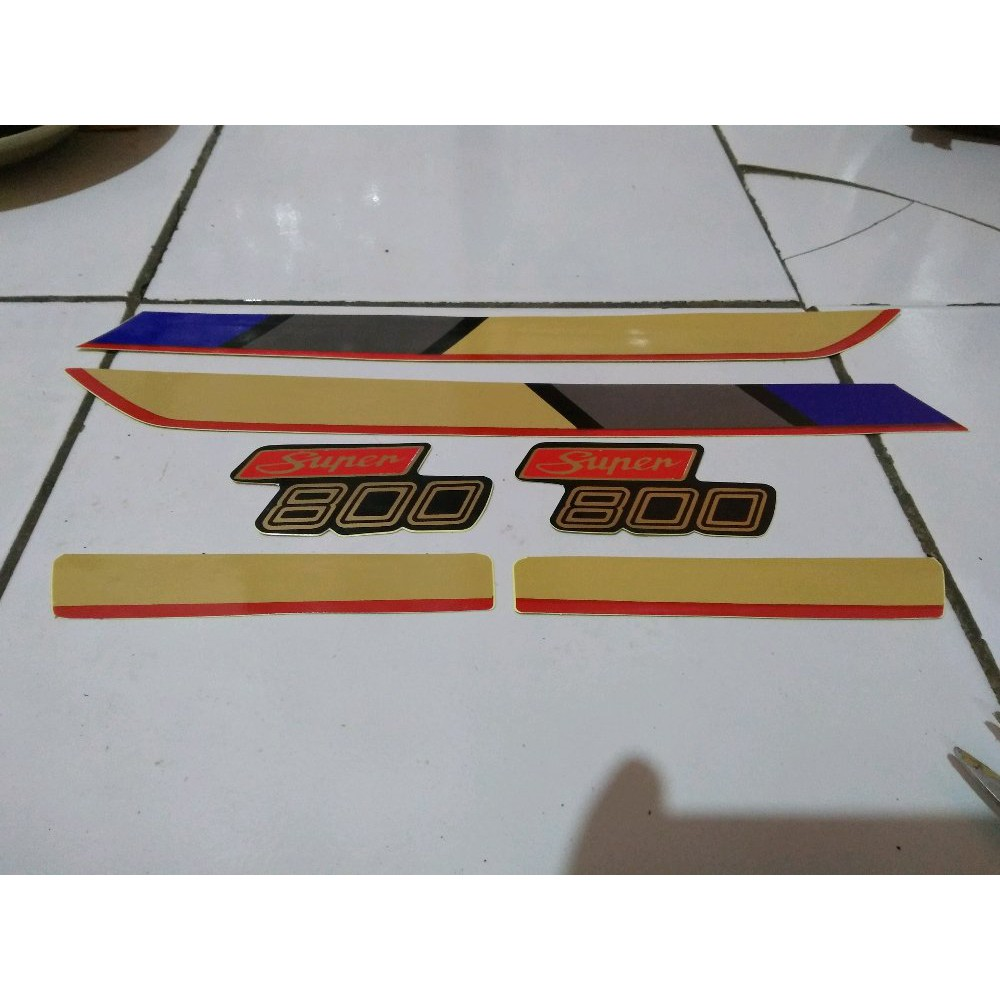 Striping Polet Honda Astrea 800 Astrea800 Sticker Lis Golden Shopee Indonesia