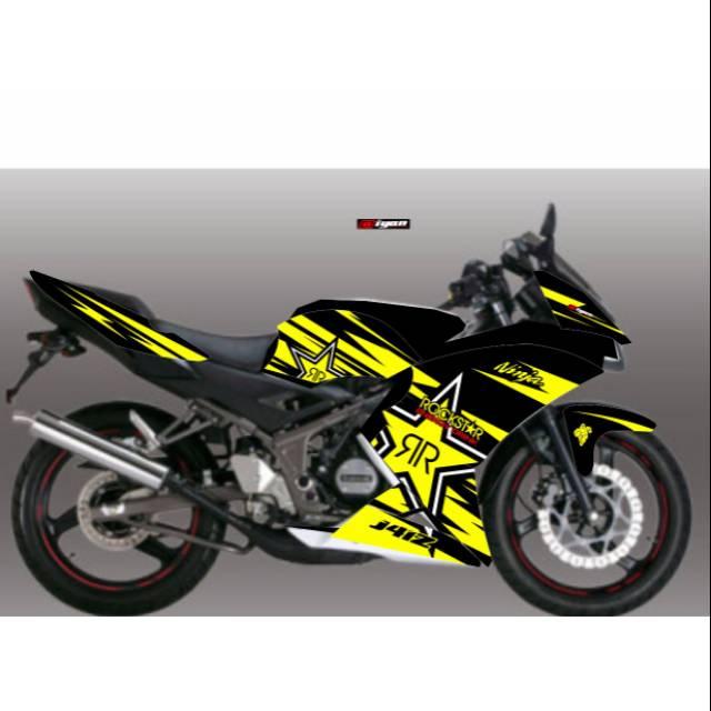Decal Stiker Kawasaki Ninja Rr 2 Tak Lama Dan 2tak Superkips Full Body Full Custom Shopee Indonesia
