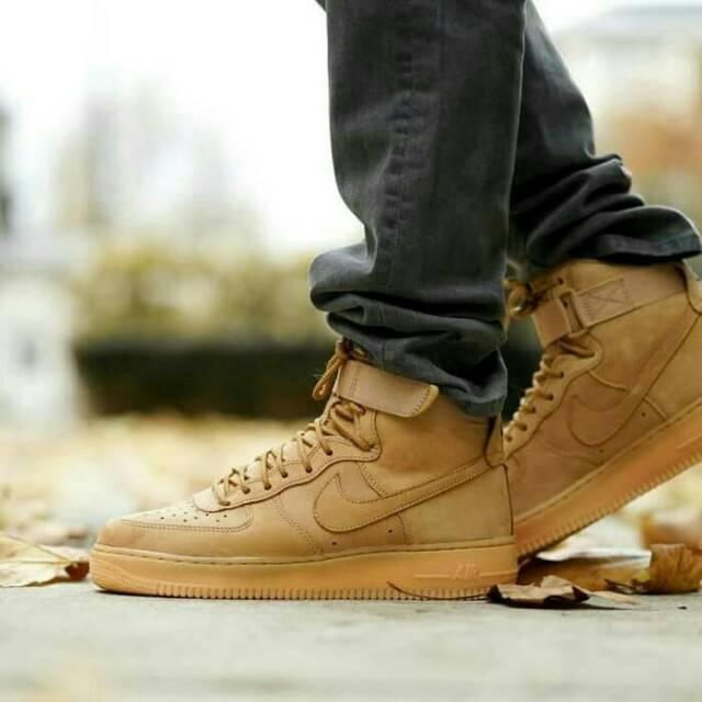 Sepatu NIKE Air Force 1 Mid Brown Premium Original Quality