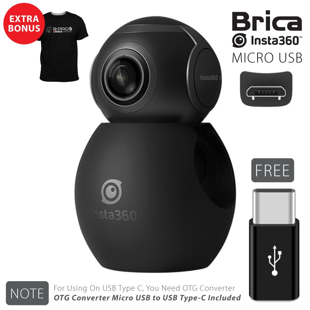 Murah Brica B Pro Insta360 Insta 360 Air Camera Usb Type C White T 5 Alpha Edition 2 Ae2 4k Combo 3 Way Berrisom Hitam Shirt Shopee Indonesia