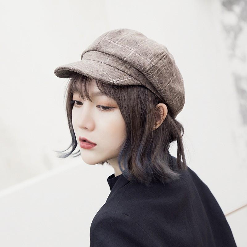 Topi Beret   Pelukis Model Dome Aksen 3 Ring Metal Gaya Korea untuk Wanita   b8a986d4fc