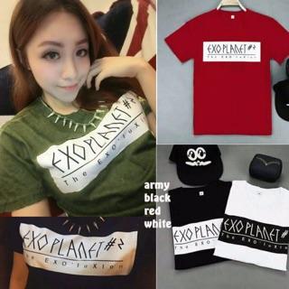 Damai fashion jakarta - baju atasan tumblr tee EXO PLANET 4 warna - konveksi baju murah