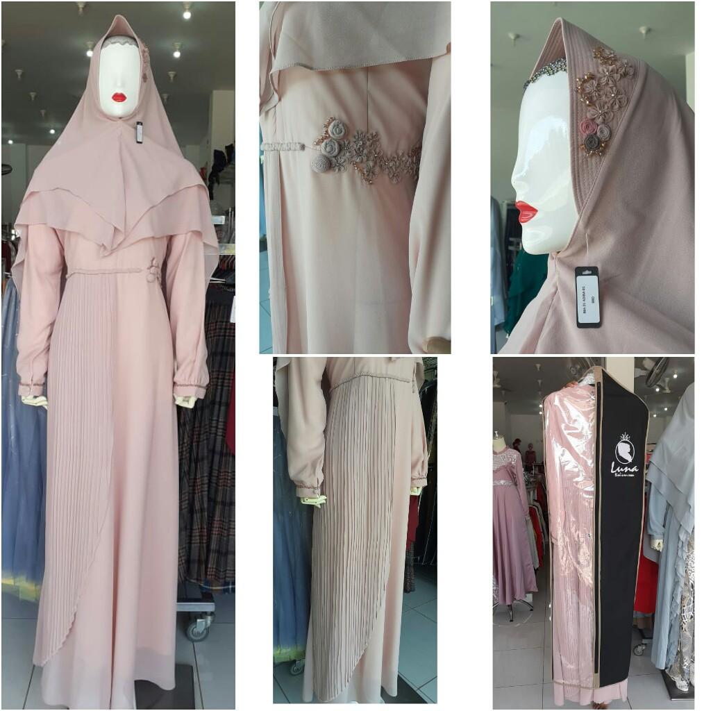 Luna Hijab 12.12 Fashion Muslim Dress Gaun Muslimah