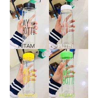 BOTOL MINUM MY BOTTLE TRANSPARANT BPA FREE BULAT 500 ML - GRATIS POUCH .