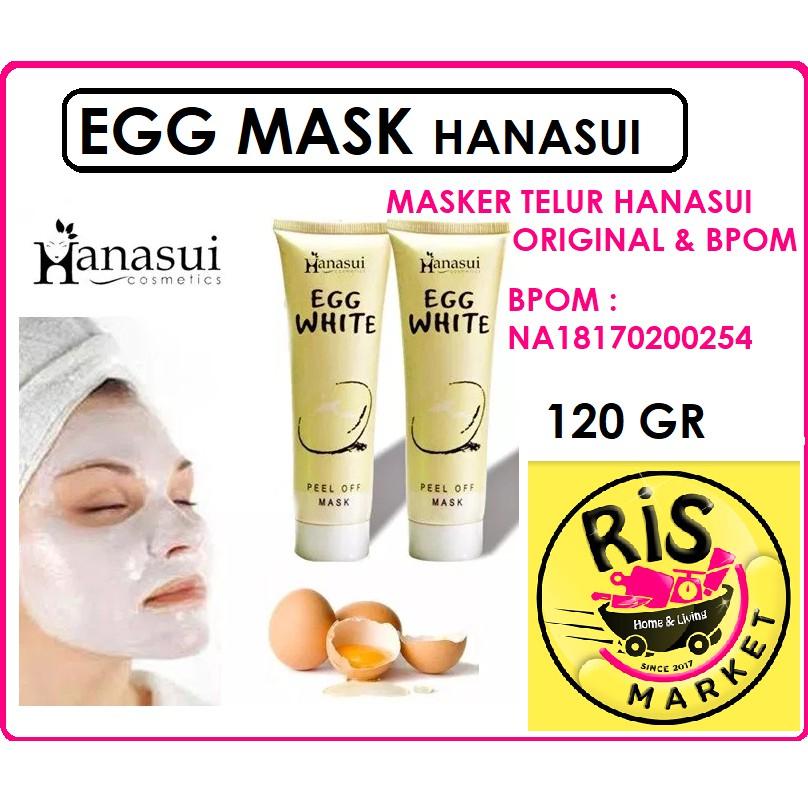 MASKER TELUR HANASUI / EGG WHITE PEEL OFF MASK HANASUI BPOM | Shopee Indonesia