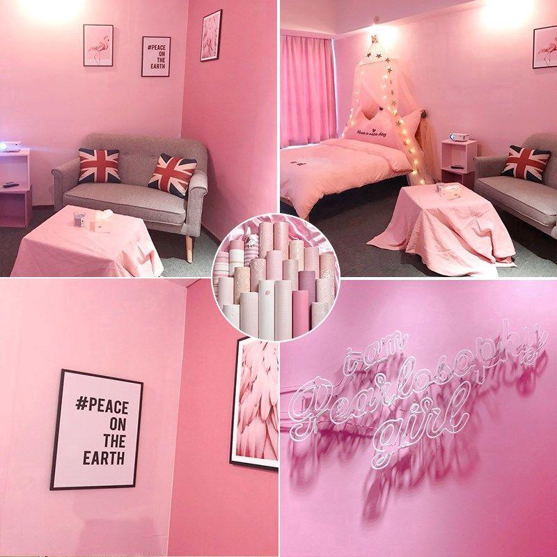 Stiker Dinding Bahan Pvc Tahan Air Warna Pink Untuk Dekorasi Kamar Anak Perempuan Shopee Indonesia