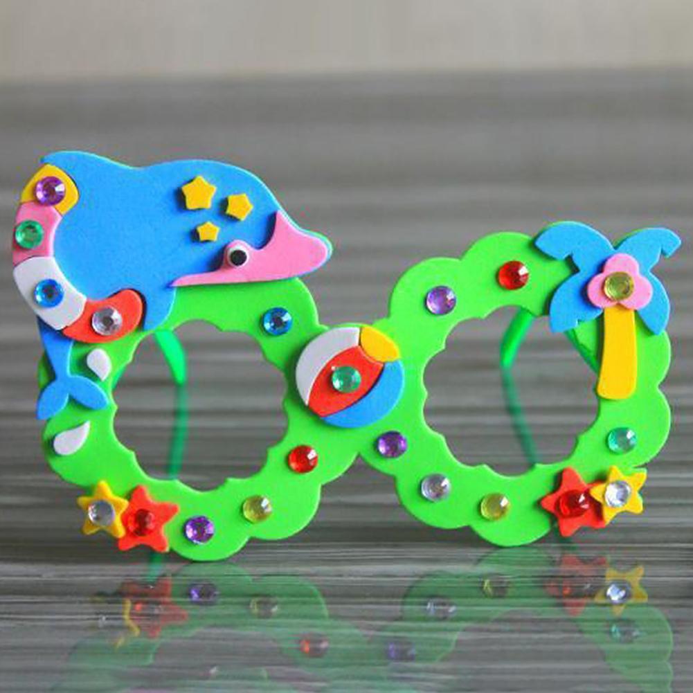 EVA Diamond Glasses Kid DIY Hand Paste Making 3D Stereo Sticker Toys Random