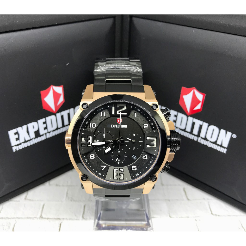 Jam Tangan Pria Expedition E6372m Kronograph Leather Black Silver E6372 Brown Stainles Steel Shopee Indonesia