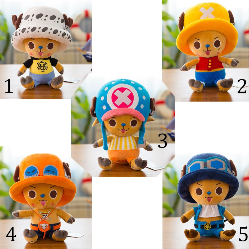 Boneka Plushie 25cm Anime One Piece Chopper Luffy Law Ace Sabo Shopee Indonesia