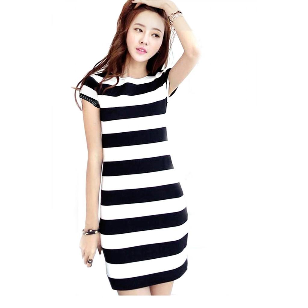 mode wanita V-neck longgar tidak teratur Hem pendek musim panas gaun Chiffon | Shopee Indonesia