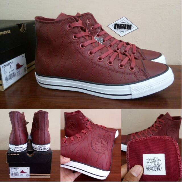 Sepatu Converse Chuck Taylor All Star RETRO Tribal Kulit Red Maroon -  Original PREMIUM BNIB Vietnam  9bd2aa89f2