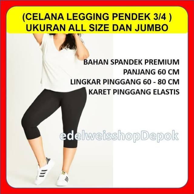 Celana Leging Pendek 3 4 Legging Polos Wanita Spandek Senam Aerobik Zumba Shopee Indonesia