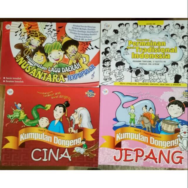 Big Sale Buku Bacaan Pendidikan Anak Lagu Nasional Permainan Tradisional Dongeng Cina Jepang Shopee Indonesia