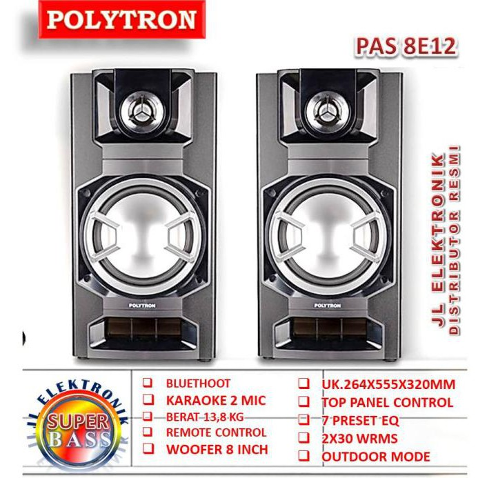 Speaker Aktif Polytron Pas 8E12 Pas8E12 Garansi Resmi Terlaris