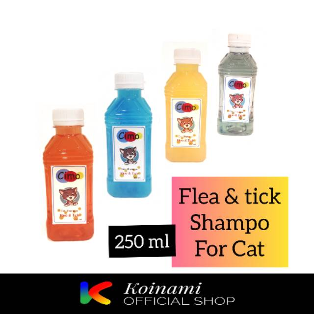 CIMO 250 ml / SHAMPO KUTU KUCING / FLEA AND TICK SHAMPO FOR CAT / grooming