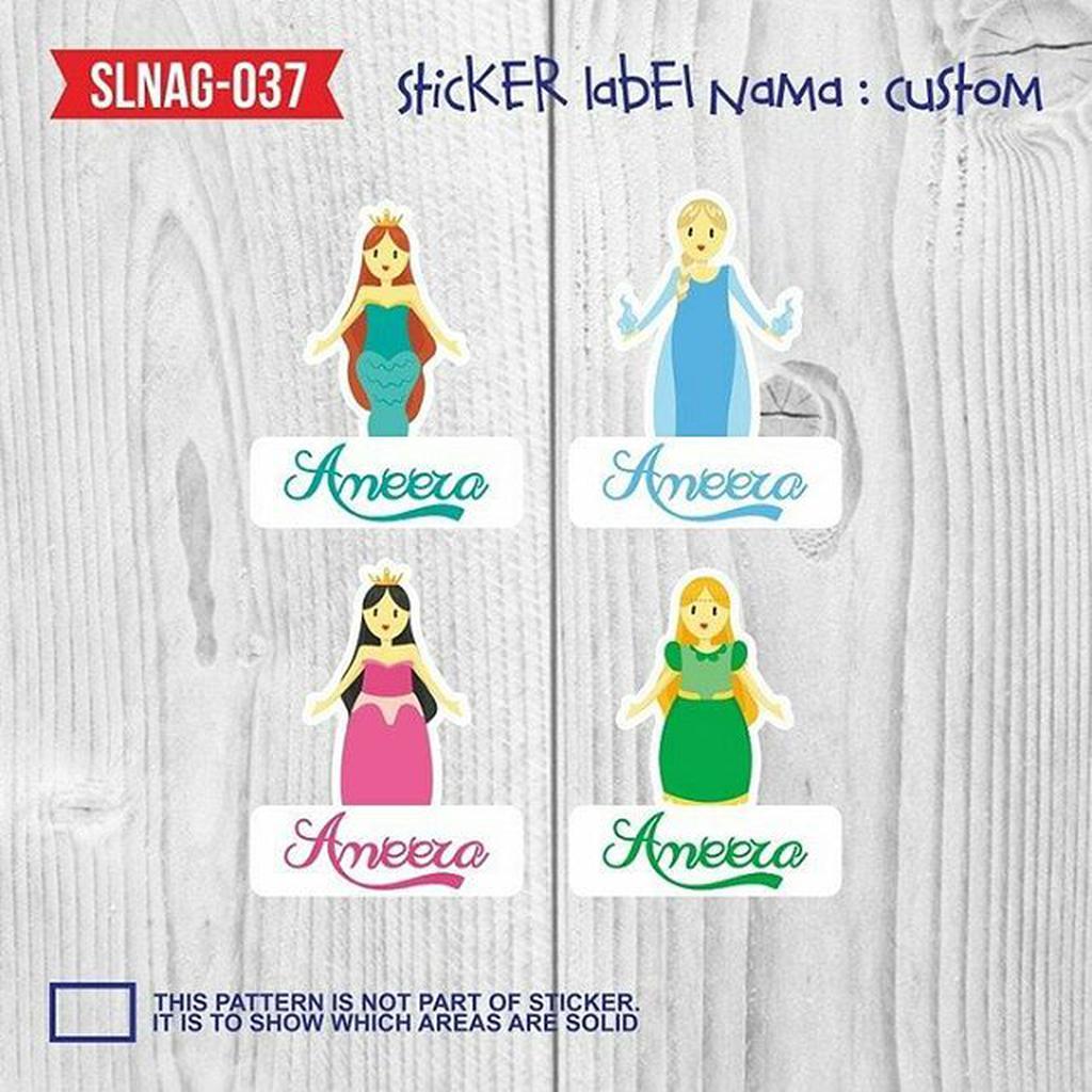 Sticker label nama disney queen sticker buku label buku slnag 037 shopee indonesia