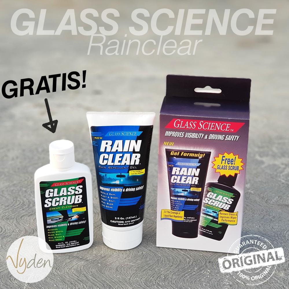 MURAH Glass Science Rain Clear Windshield Repellant Gel GRATIS Glass Scrub | Shopee Indonesia