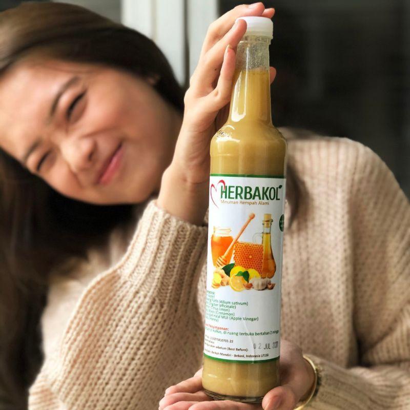 Jus Bawang Putih Herbal Jahe Merah Lemon Cuka Apel Madu Cinnamon Herbakol Shopee Indonesia