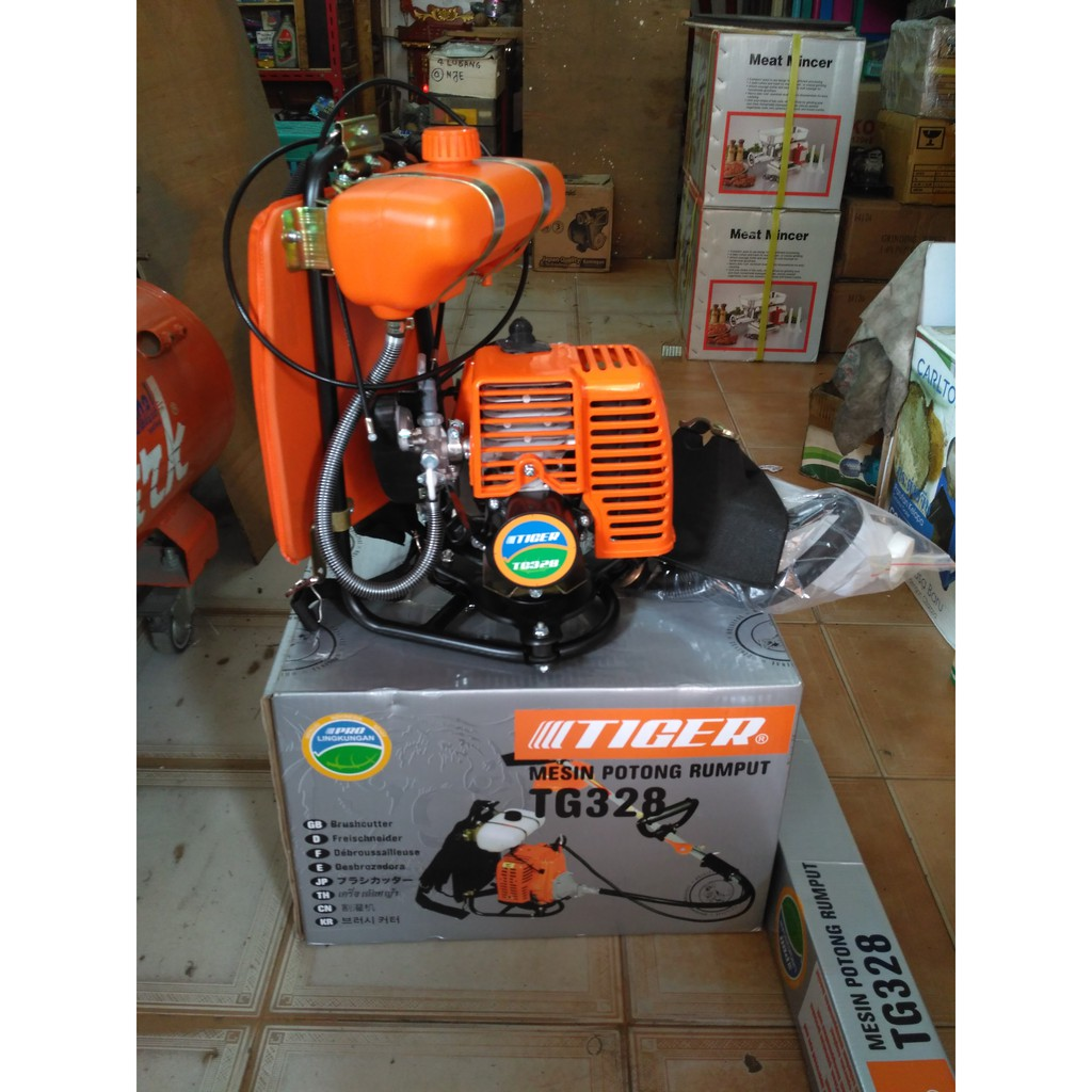 Mesin Potong Rumput Tiger Tg328 Shopee Indonesia Gendong 4 Tak Matrix Mtx 431