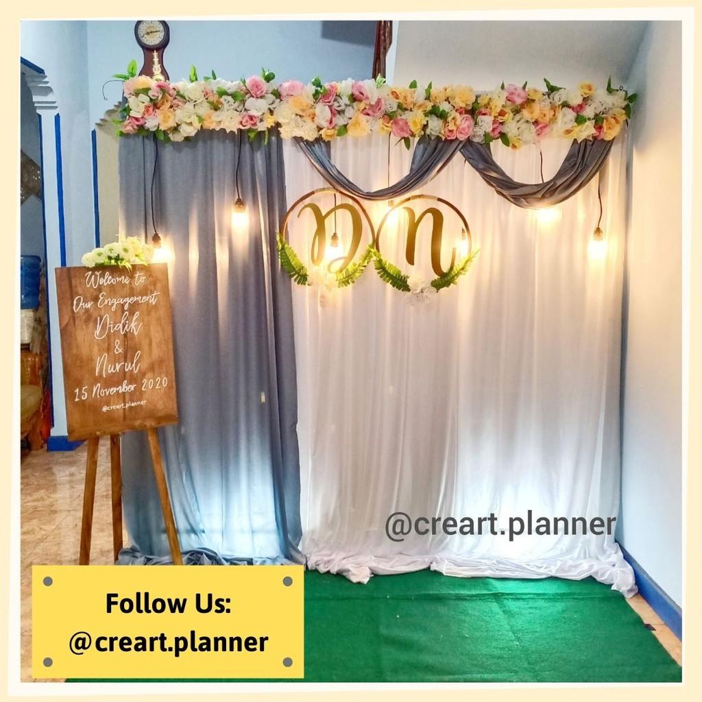 Backdrop Lamaran/ Dekorasi Lamaran /Dekorasi Pernikahan/ Photobooth 17