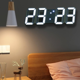jam dinding digital led 3d gaya modern untuk dekorasi