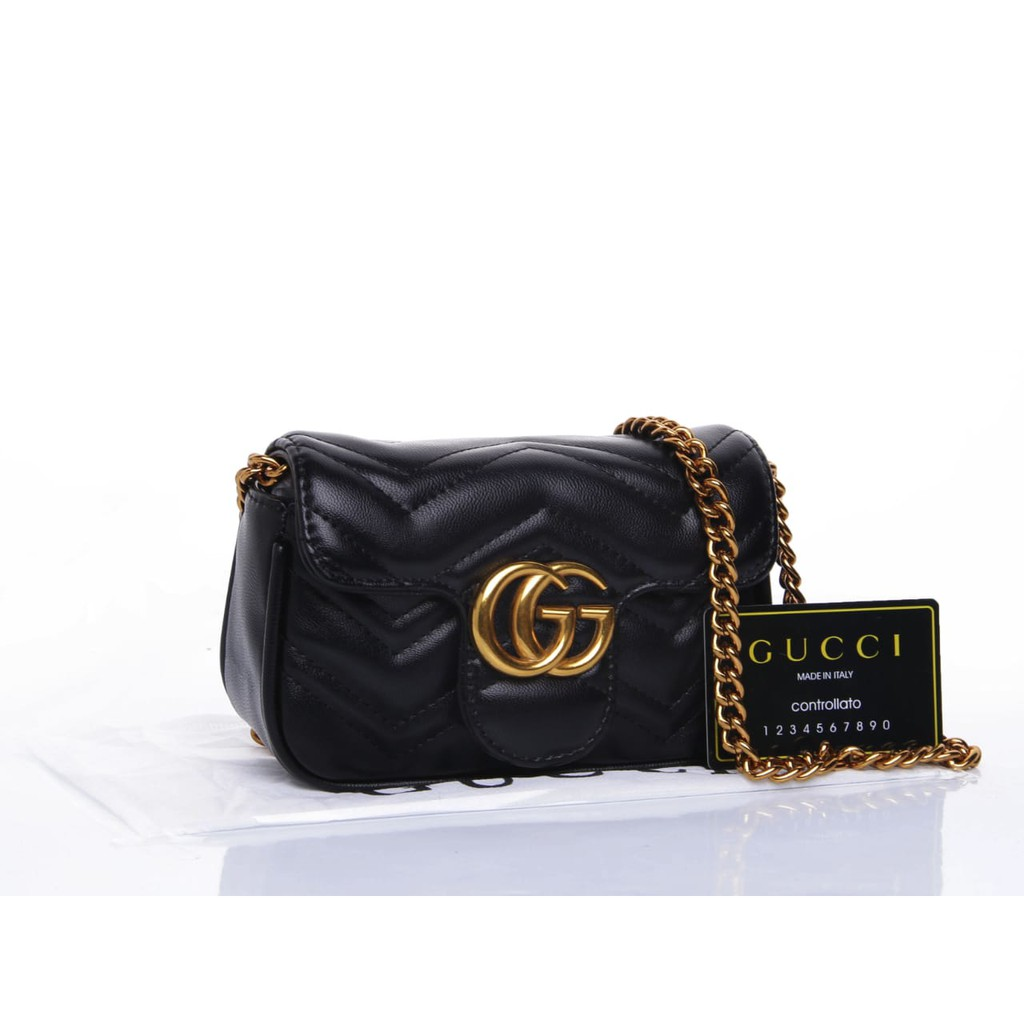 1d947b42e2a7 TAS GUCCI SHOULDER GG MARMONT MATELASSE QUILTED MINI XXX | Shopee Indonesia