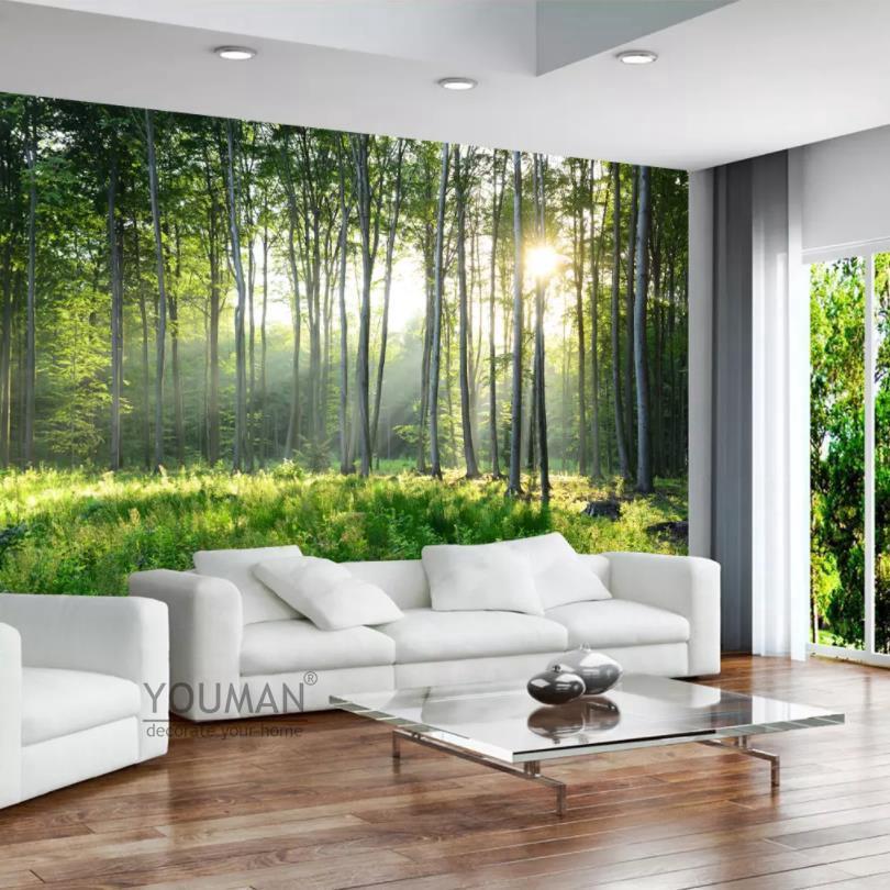 Kustom Foto Wallpaper Hutan Hijau