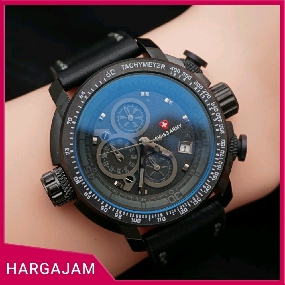 Jam Tangan Pria Swiss Army Canvas Super Chrono by hargajam tali kanvas  2a6b55575a