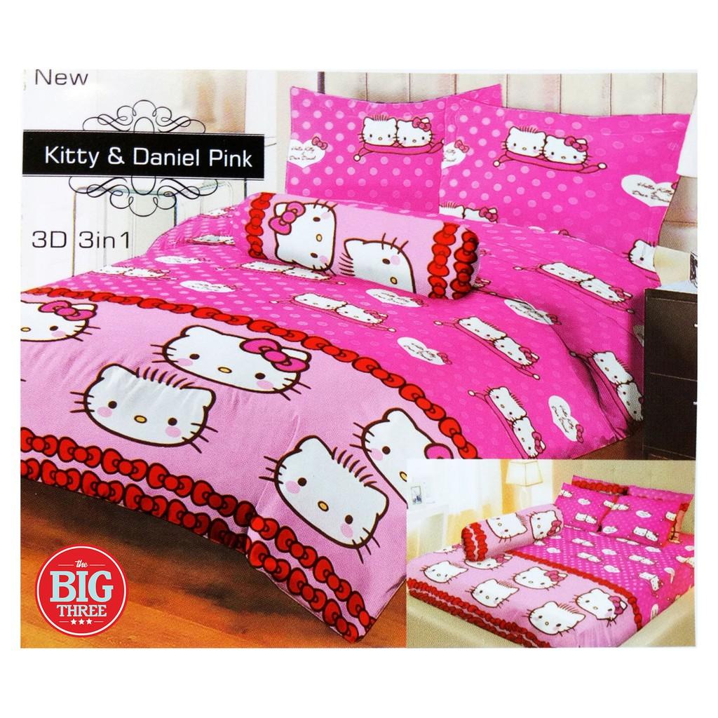 Sprei Bonita Ukuran 180x200 Motif Pink Kitty Dan Hellokitty Seprei Hello Friends Shopee Indonesia