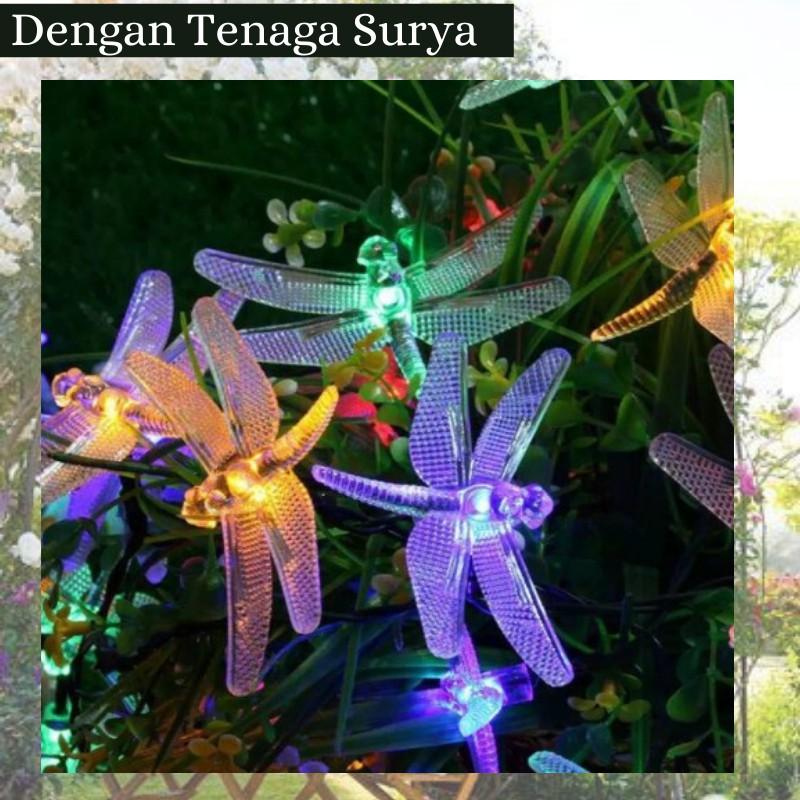 Lampu Taman Dekorasi Hias Led Tenaga Surya Hiasan Rumah Model Capung Shopee Indonesia