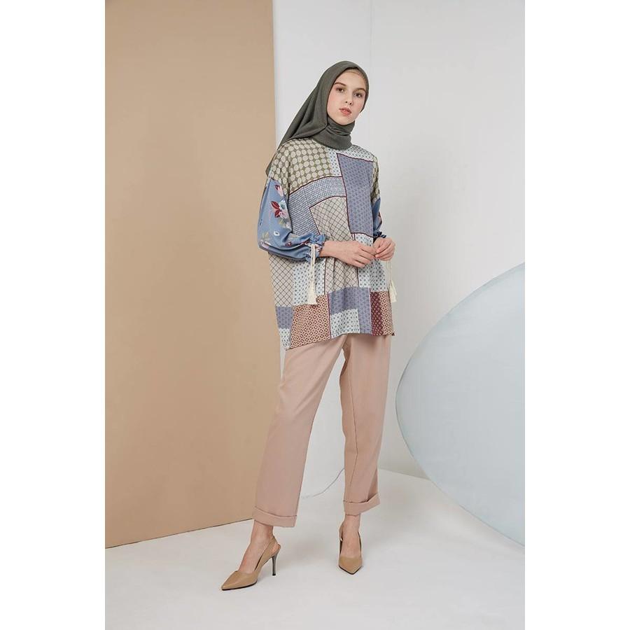 Hijabenka Acilla Top Blue Shopee Indonesia